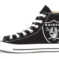 Las Vegas Raiders Custom Converse Shoes Black High
