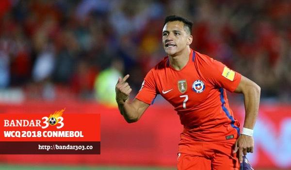Alexis Sanchez Chile Uruguay WCQ2018