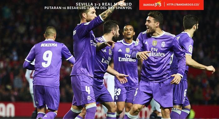 Sergio Ramos Karim Benzema Real Madrid Sevilla 3-3