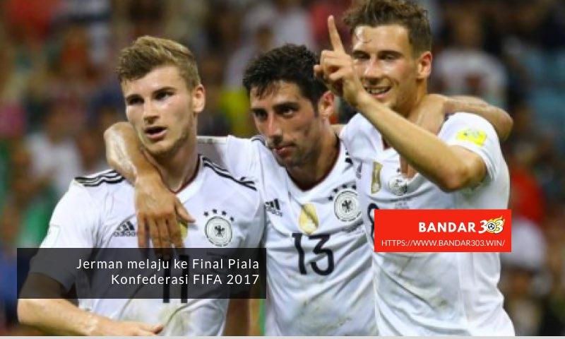 Jerman merayakan menang telak Meksiko