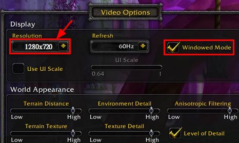 wow game recording resolution - Factors that affects gaming Performance,Details setting,features explanation.