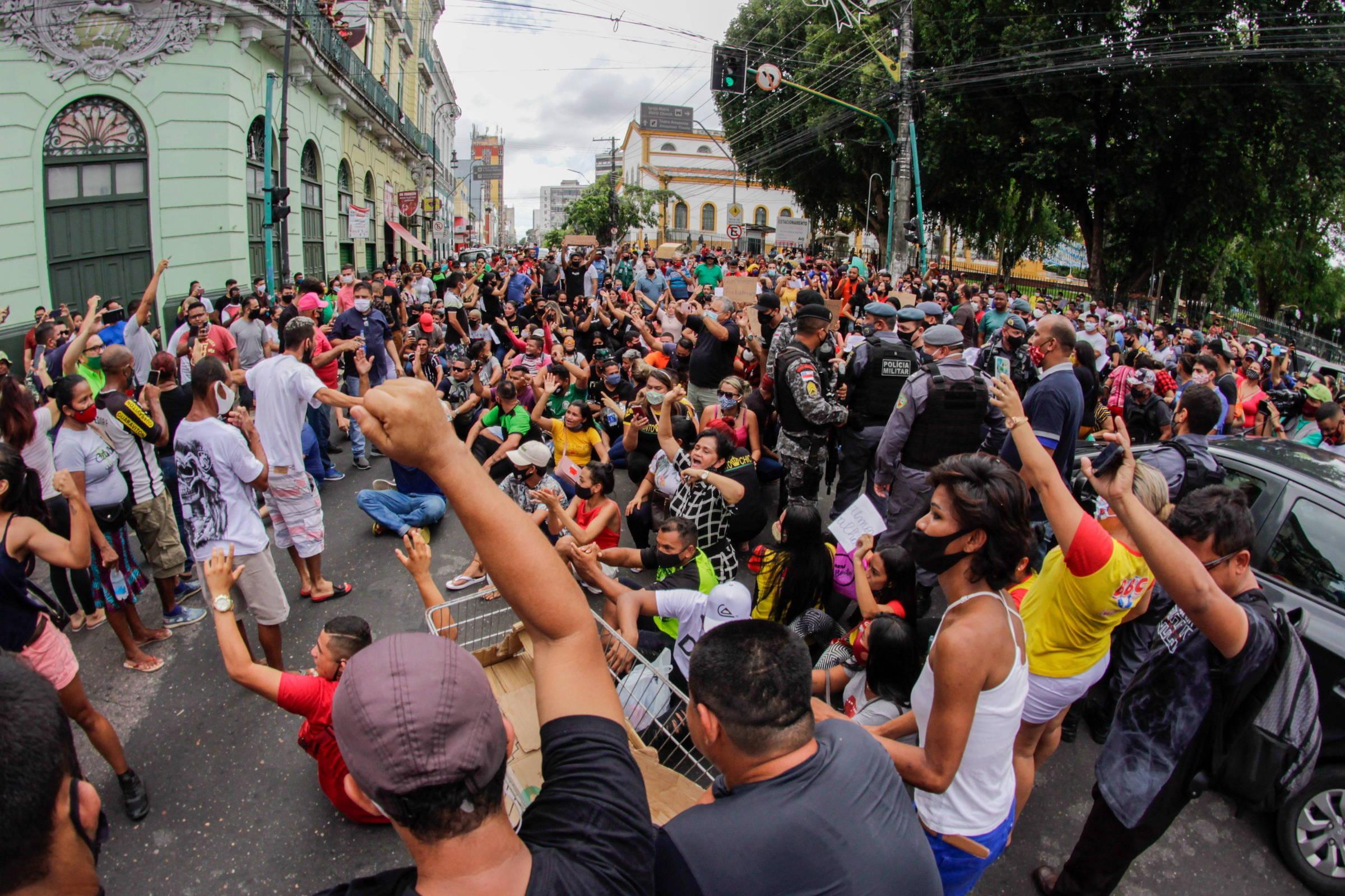 MBL realiza neste domingo protesto contra presidente Bolsonaro no centro de Manaus
