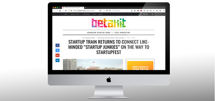 """Startup Train returns to connect like-minded """"startup junkies"""" on the way to Startupfest - Band of Coders"""