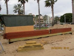 Construction plage centrale