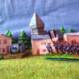 Infanterie française, canon de 75 et mitrailleuse