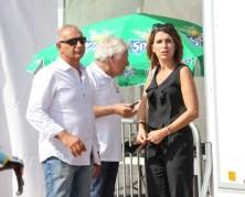 Jean Michel Rossi et Anne Marie Lapasset de la mairie