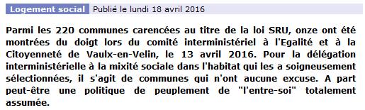 loi SRU 18 avril 2016