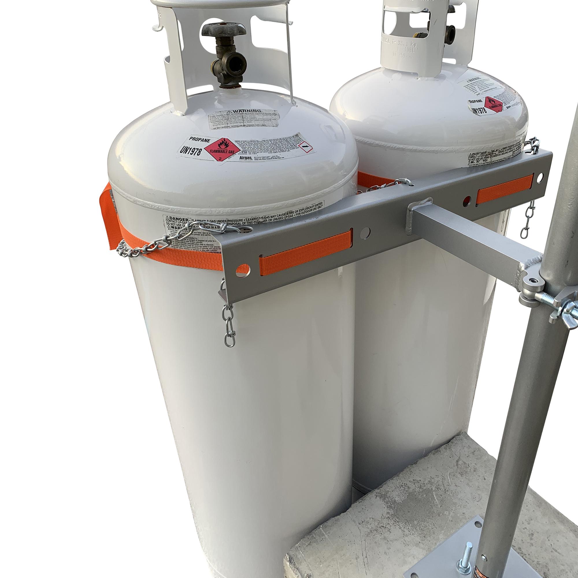 dual propane tank cylinder block mount kit