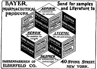 """The sedative for coughs"", until 1913."
