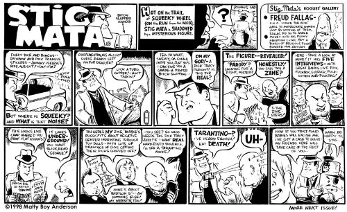"""From Mike The Pod Comix #4, 1998. """"Zinesters"""" were the 90s equivalent of """"hipsters""""."""