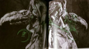 The nefarious Skeksis, with mystical diagrams.