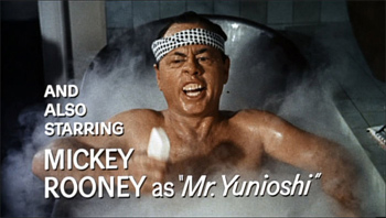 """From Breakfast At Tiffany's. Starring Mickey Rooney as """"Mr. Yu no want to watch this no more""""."""
