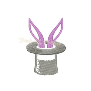 Rabbit hat embroidery