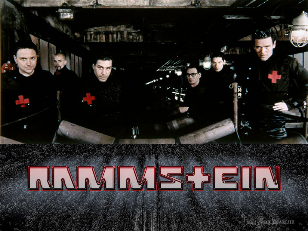 That in translation into Russian means the name of the German group Rammstein