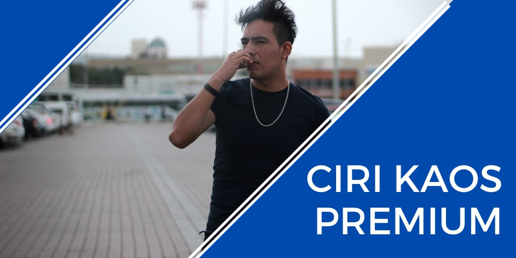 ciri kaos premium