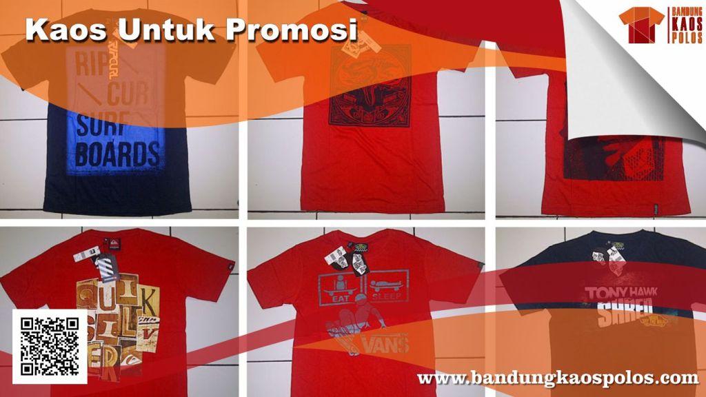 Terima Order Pemesanan Kaos untuk Promosi Perusahaan Murah