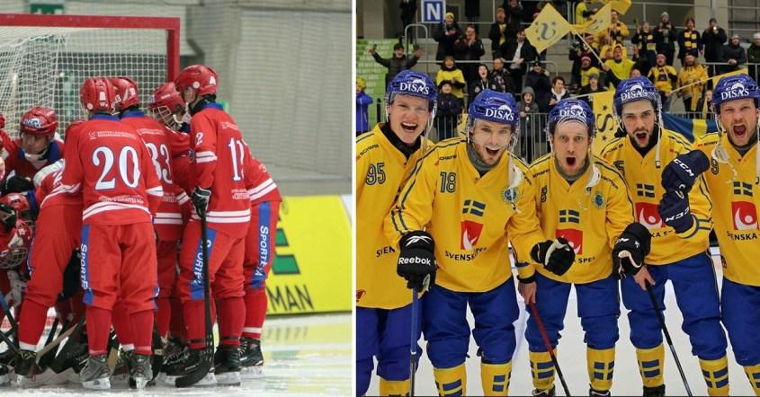 Sverige, blågult, bandy-VM, Ryssland