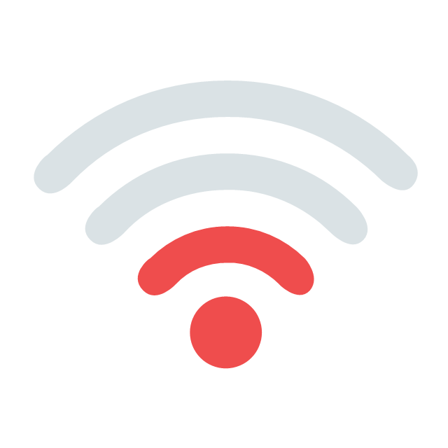 pict weak wifi signal ivr network vector stencils library. Black Bedroom Furniture Sets. Home Design Ideas