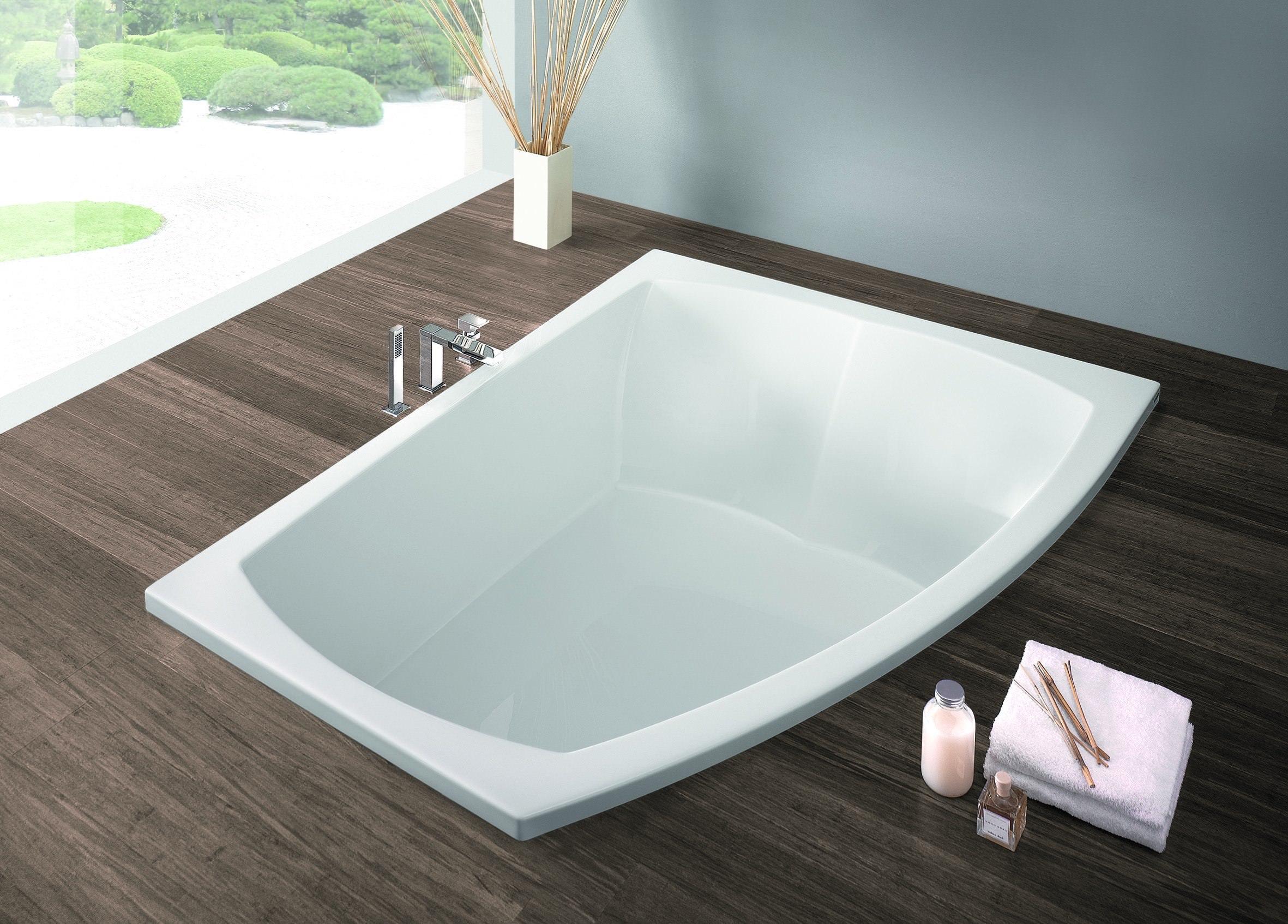 Asymmetrische Badewanne 170x90