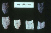 Arrowheads left by First Nations People in Banff National Park