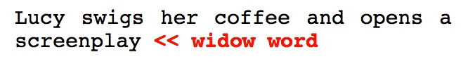 7.WIDOW WORDS