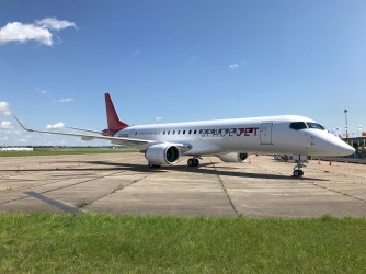 paris 2019: mitsubishi m90 in new spacejet livery mitsubishi has debuted  its new spacejet livery on an mrj90 - now m90 aircraft at the paris air  show