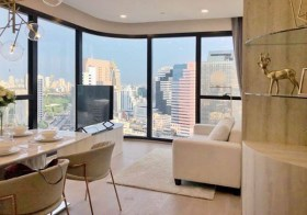 Ashton Chula-Silom | Bangkok condo for rent | 210 m. to Samyan MRT | 700 m. to Silom MRT | corner unit |  washer/dryer in unit