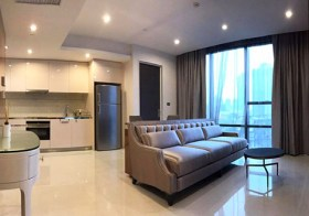 The Bangkok Sathorn – condo for rent | close to Surasak BTS | unobstructed view | 700 m. to AIA Sathorn tower