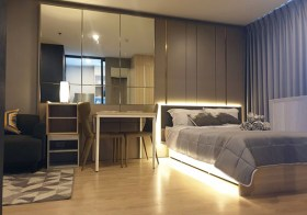Ideo O2 – Bangkok condo for rent | sky walk to Bangna BTS | fitted kitchen with stove/hood + washer | unobstructed view