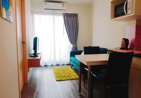 Rich Park @ Triple Station condo | 5 mins walk to Huamak airport link | fully furnished | 2.8 km. to Stamford university