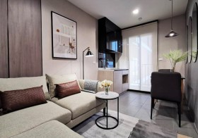 The Base Garden Rama 9 condo | 10 mins walk to Ramkhamhaeng airport link | fully furnished | east facing, open view