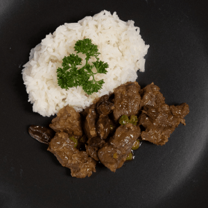 Mild Beef Curry with Rice