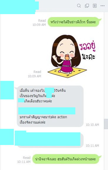 BangkokMatching's Success Client updates her sweet love life with matchmaker 112171