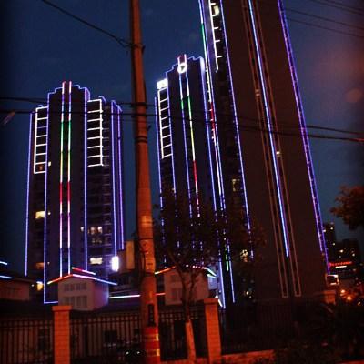 Immeubles illuminés