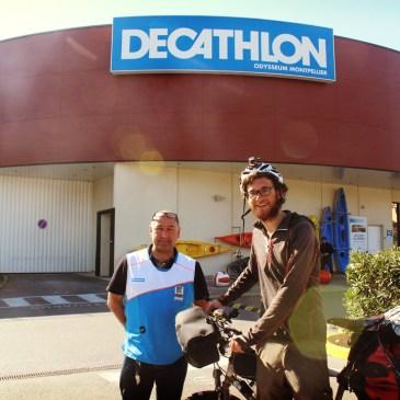 Réparations offertes par mon sponsor, Decathlon Odysseum