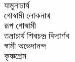 Bharater Sadhak contents 11