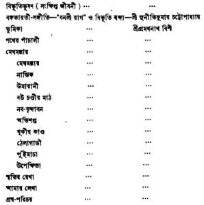 Bibhuti-Rachanabali Content- 1