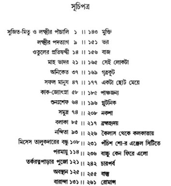 Galpo Samagra by Narendranath Mitra content