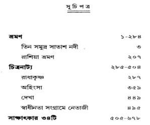 Samayer Upahar content