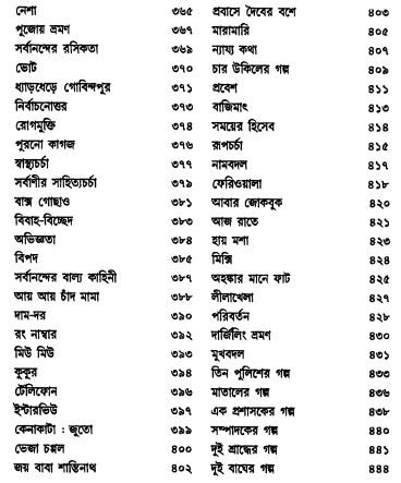 Galpo Samagra by Tarapada Roy content 4