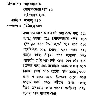 Banaphul Rachanabali contents 18