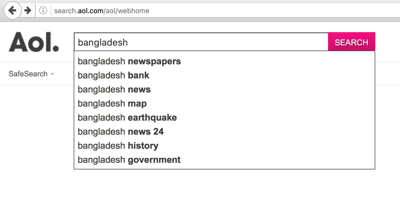 Bangladesh on AOL
