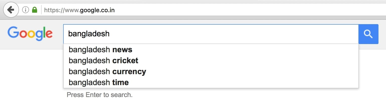 Bangladesh on Google India