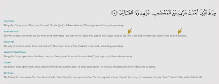 Surah Al-Fatiah, 1-7, English translation