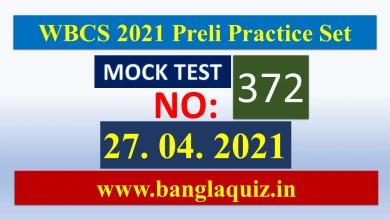 WBCS 2021 Preliminary Practice Set