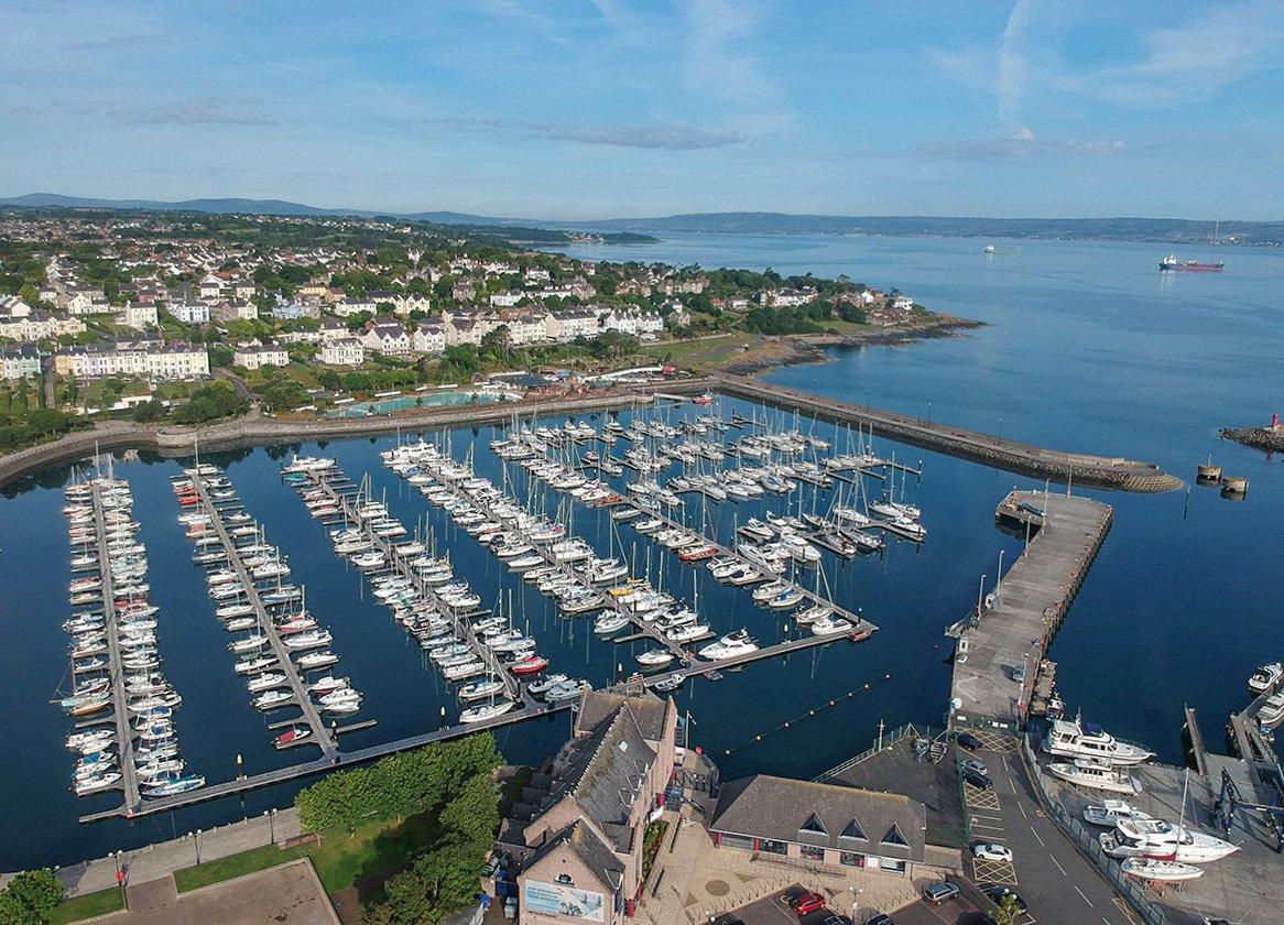 Drone over Bangor Marina,Bangor Northern Ireland
