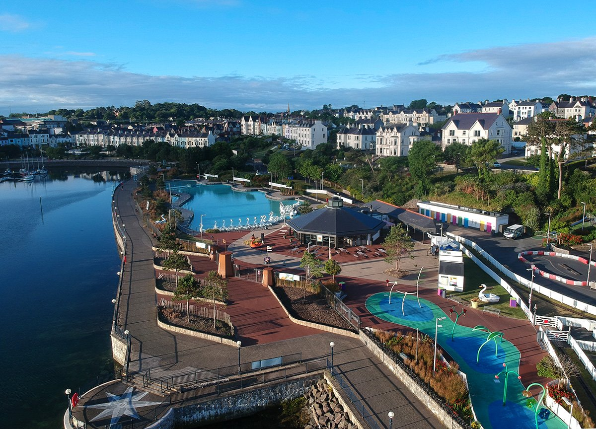 Pickie Fun Park Drone, Tourist Attractions in Bangor Northern Ireland