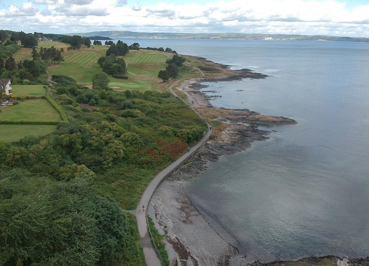 Carnalea Golf Course, North Down Coastal Path. Bangor to Strickland's Glen. Northern Ireland