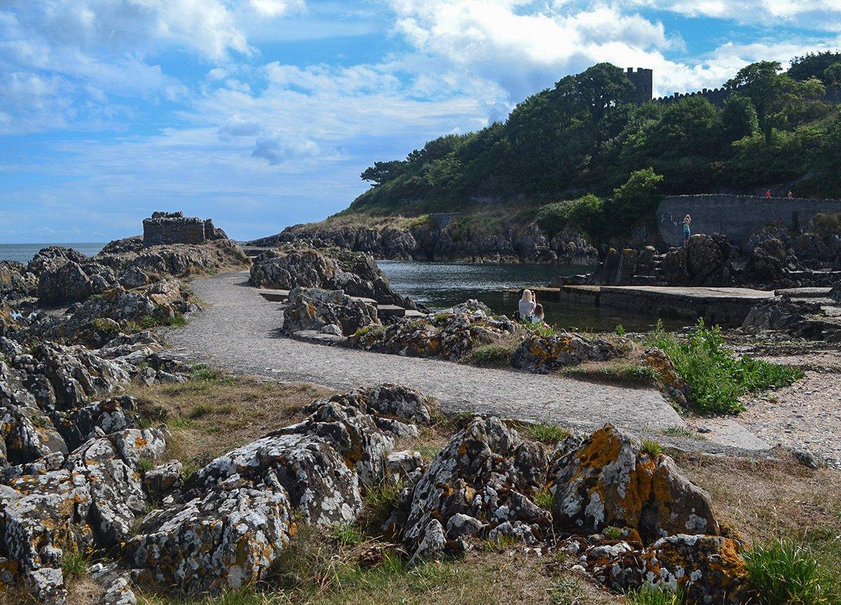 Half Castle and Jenny Watts Cave on North Down Coastal Path in Bangor NI