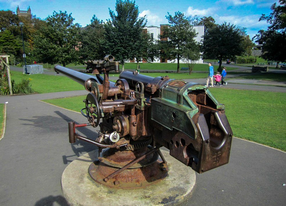 War Memorial Gun Ward Park, History of Bangor Museum Northern Ireland